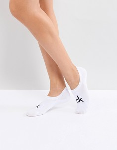 Низкие носки с логотипом в стиле ретро Calvin Klein - Белый
