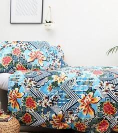 Комплект из одеяла и подушек с цветочным принтом Hashtag - Мульти