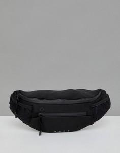 Черная спортивная сумка-кошелек на пояс ASOS 4505 - Черный