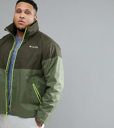 Зеленая водонепроницаемая куртка со складываемым капюшоном Columbia PLUS Inner Limits - Зеленый