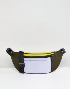 Сумка-кошелек на пояс в стиле колор блок ASOS DESIGN - Мульти