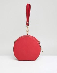 Круглый клатч с ручкой ASOS - Красный