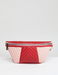 Стеганая сумка-кошелек на пояс ASOS - Розовый