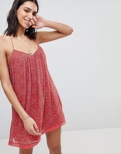 Свободное кружевное платье Abercrombie & Fitch - Красный