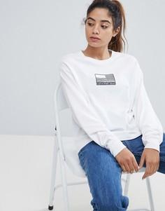 Лонгслив с логотипом Calvin Klein Jeans - Белый