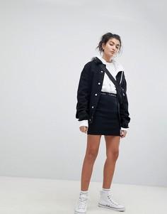 Мини-юбка с логотипом на поясе Calvin Klein Jeans - Черный