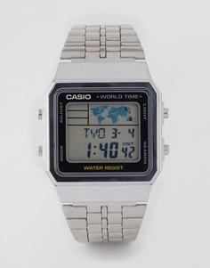 Многофункциональные серебристые часы Casio A500WEA-1EF - Серебряный