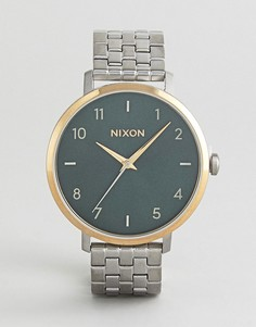 Серебристые наручные часы Nixon A1090 - Серебряный