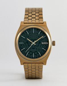 Золотистые наручные часы Nixon A045 Time Teller - Золотой