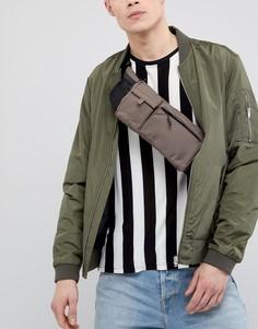 Коричневая сумка-кошелек на пояс в стиле милитари ASOS DESIGN - Коричневый
