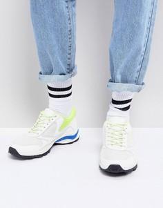Белые кроссовки на толстой подошве с неоновой отделкой ASOS - Белый