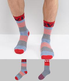 Набор из 2 пар носков в полоску с логотипом Levis - Красный Levis®
