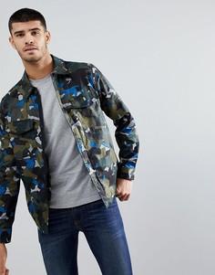 Зеленая хлопковая камуфляжная куртка PS Paul Smith - Зеленый