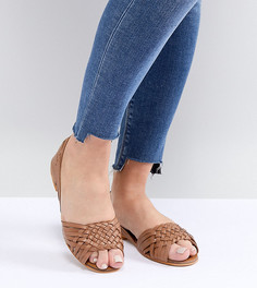 Летние кожаные туфли для широкой стопы ASOS DESIGN - Рыжий