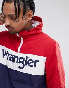 Красная куртка с капюшоном и логотипом Wrangler - Красный