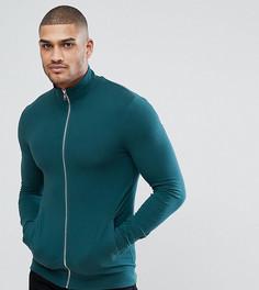 Зеленая облегающая спортивная куртка ASOS TALL - Зеленый