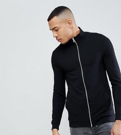 Черная облегающая спортивная куртка ASOS TALL - Черный