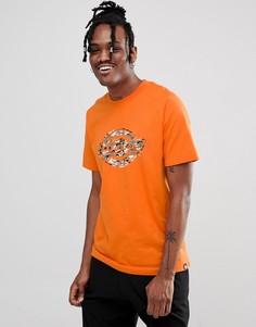 Оранжевая футболка с камуфляжным логотипом Dickies - Оранжевый