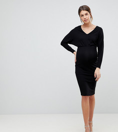 Платье миди с рукавами летучая мышь ASOS Maternity - Мульти