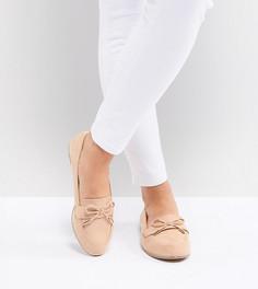 Туфли для широкой стопы на плоской подошве ASOS DESIGN Mossy - Бежевый
