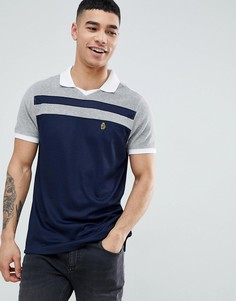 Сине-серая футболка-поло Luke Sport Away 2 - Темно-синий