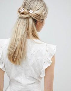 Заколка для волос с цветами ASOS DESIGN - Золотой