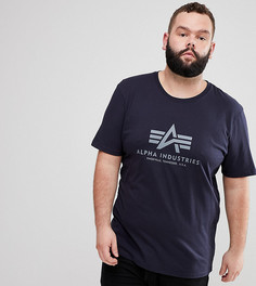 Темно-синяя футболка с логотипом Alpha Industries PLUS - Темно-синий