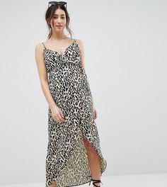 Платье макси на бретельках с леопардовым принтом ASOS DESIGN Maternity - Мульти