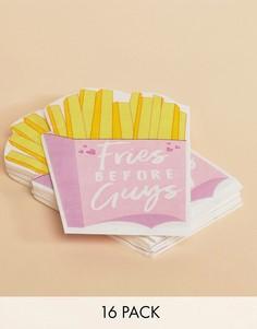 Бумажные салфетки с надписью Fries Before Guys (16 шт.) Ginger Ray - Мульти