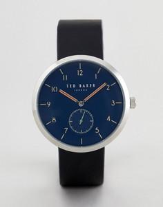Часы с черным кожаным ремешком Ted Baker TE50011007 Josh - 42 мм - Черный