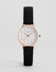 Часы с черным кожаным ремешком Rosefield 26WBR-261 - Черный