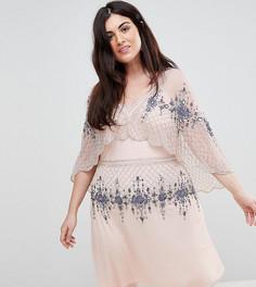 Приталенное платье мини Frock And Frill Plus - Розовый