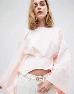 Укороченный топ-кимоно ASOS WHITE - Розовый