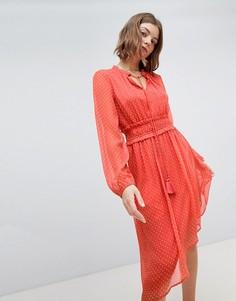 Асимметричное платье в горошек Vero Moda - Красный