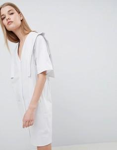 Платье с V-образным вырезом ASOS WHITE - Серый