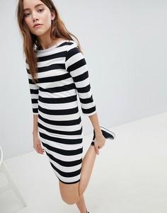 Трикотажное платье в полоску JDY - Мульти
