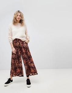 Широкие брюки с принтом Maison Scotch - Мульти