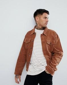 Светло-коричневая вельветовая куртка boohooMAN - Рыжий