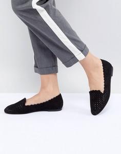 Обувь на плоской подошве с перфорацией Faith - Черный