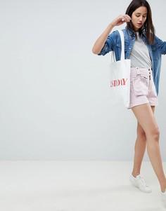 Шорты со съемной сумкой-кошельком на пояс ASOS DESIGN - Розовый