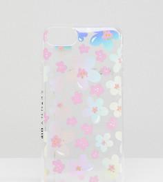 Чехол для iPhone 6/7/8/s с переливающимся цветочным принтом Skinnydip - Мульти