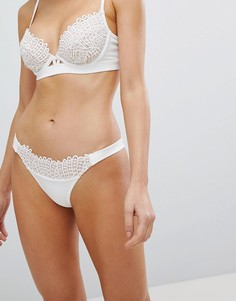 Плавки бикини с кружевной отделкой ASOS BRIDAL PREMIUM - Кремовый