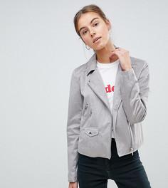 Байкерская куртка из искусственной замши ASOS TALL - Серый