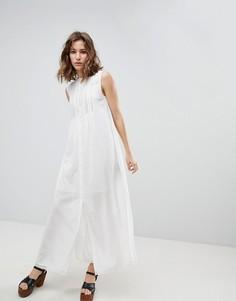 Платье миди с пуговицами Paul & Joe Sister - Белый