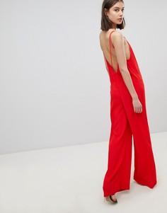 Комбинезон с широкими штанинами BA&SH - Красный Ba&Sh