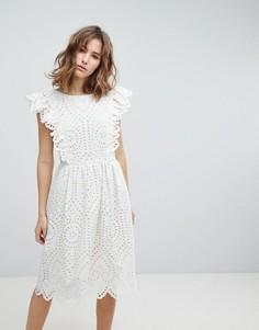 Платье с вышивкой ришелье Paul & Joe Sister - Белый