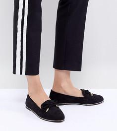 Туфли для широкой стопы на плоской подошве ASOS DESIGN Mossy - Черный
