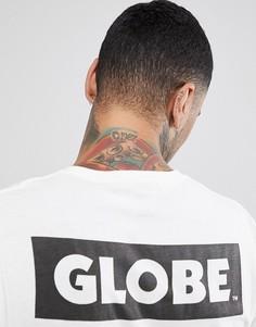 Белая футболка с принтом логотипа сзади Globe - Белый