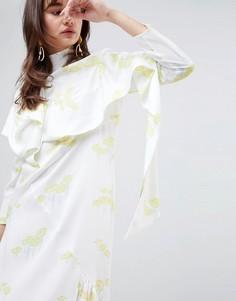 Платье с принтом ASOS WHITE - Мульти