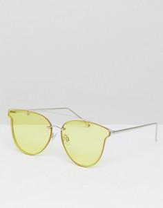 Солнцезащитные очки кошачий глаз с желтыми затемненными стеклами Jeepers Peepers - Золотой